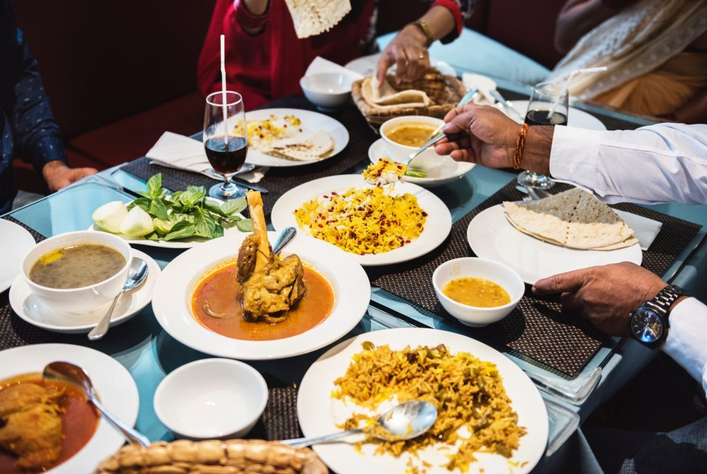 Indian food on the table
